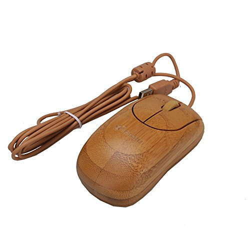 Sengu SG-MU1055-N 2.4GHz Bamboo Wired Optical Mouse Healthy Sweat-resistant Anti-radiation Wired (Button Optical Mini Mouse Pc)