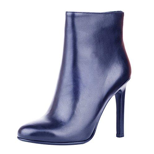 NIUERTE NIUERTEWife - A Collo Alto donna navy leather
