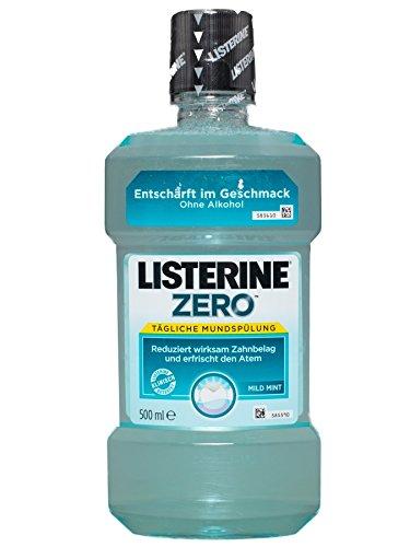 Listerine Zero Mild Mint, Mundspülung ohne Alkohol - 500ml - 2x