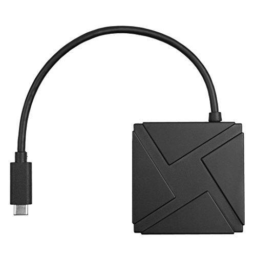 USB 3.1 Type C 4-Port HUB Compact Adapter-Verbindungsstück für Apple neues 12-Zoll-Retina MacBook Chromebook Pixel 2015 Edition und anderen USB 3.1-C-Geräte (Usb-3-hub Compact)