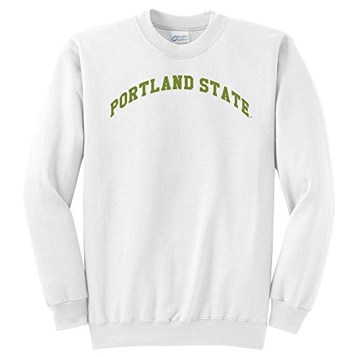 Campus Merchandise NCAA Unisex NCAA Portland State Arch Classic Rundhals Sweatshirt, Unisex, weiß, 3X-Large