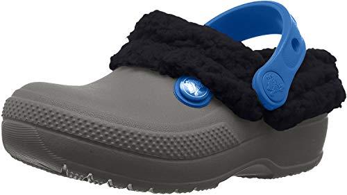 Crocs classic blitzen iii clog kids, zoccoli unisex-bambini, grigio (slate grey/navy), 22/23 eu