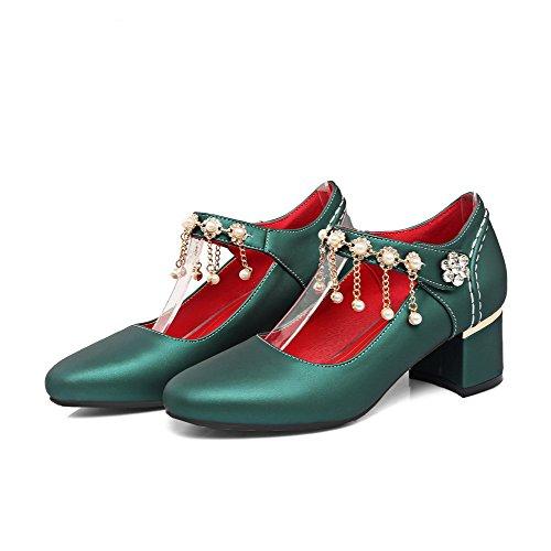 Corretta Dell'inarcamento Circolare Colore Coda Flessibile Voguezone009 Donna Verdi Scarpe Materiale Luce Di Solido PRqBI