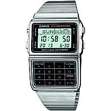 Casio DBC-611E-1EF - Reloj digital de cuarzo para hombre con correa de acero inoxidable, color plateado