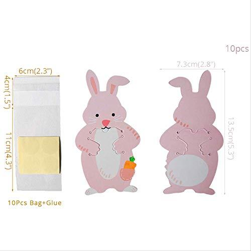 0 Stücke Dekoration Tier Kaninchen Bär Koala Süßigkeiten Taschen Grußkarte Cookie Taschen Geschenk Taschen Birthday Party DecorKaninchen ()