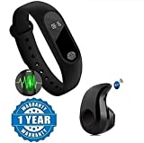 Lambent Heart Rate Monitor Bluetooth Health Fitness Tracker Smart Band with S530 in-Ear