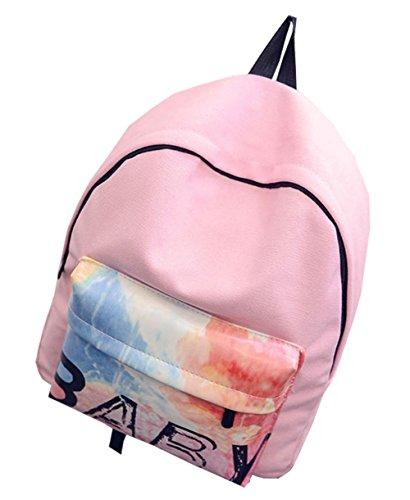 Dame-Mädchen-Leinwand Reisetasche Schulter-Schule-Rucksack C