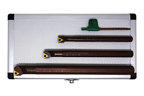 PAULIMOT Bohrstangen-Set 3-teilig mit Wendeplatten, 10, 12 und 16 mm