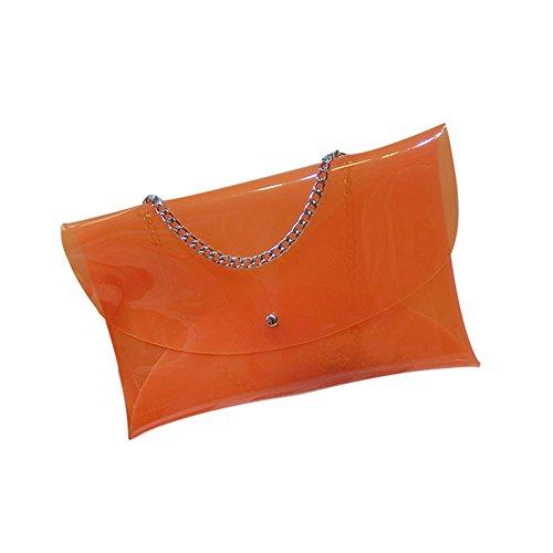 MOGOR, Borsa a tracolla donna rosso Rose Red medium Orange