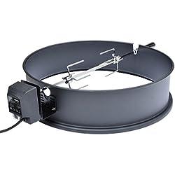Onlyfire Grillspieß Set für Weber 57 cm Kugelgrill und viele andere Modelle, Rotisserie, Drehspieß für Holzkohle Grill