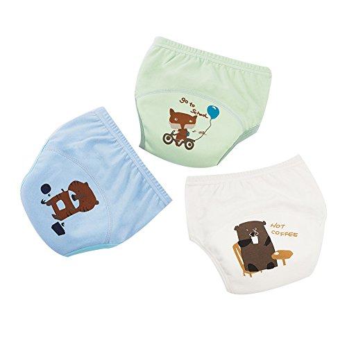 G-Kids 3PCS Baby Mädchen Jungen Trainerhosen Training Pants Windelhöschen Unterhose Waschbare Lernwindel Töpfchentraining C 120
