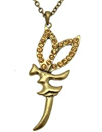 Estilo de la vendimia - grande - Acosta cristal de oro collar de hadas