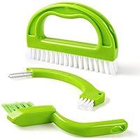 Fugenbürste für Bad, Küche und Haushalt, Tinabless 3 in 1 Reinigt effektiv Fugenfliesen und entfernt Schimmel oberflächlich - Grün