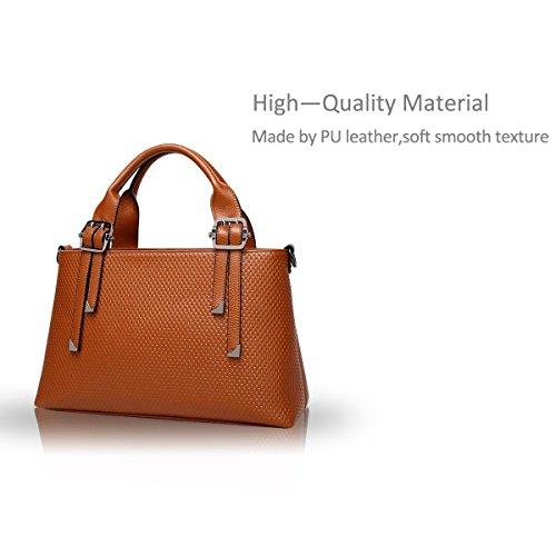 Nicole&Doris Borsa a tracolla signore della molla nuova tendenza della borsa moda maschile borsa(Brown) marrone