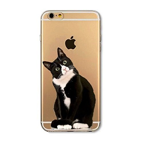 Coque silicone souple iphone 4 et 4S ,Grand Chat , cat , animal , noir ,TPU Grand chat