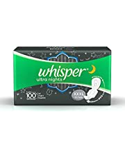 Whisper Ultra Nights Sanitary Pads XXXL Wings 10 Pieces Pack