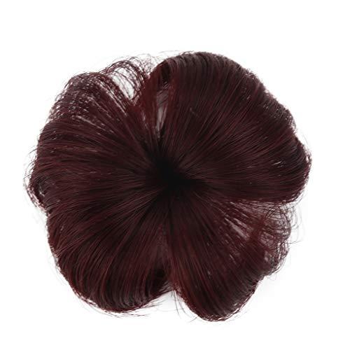 Kugelkopf Perücke Kreis/Dorical 2 Pcs Baby Girl Haarteil, Gelockter oder unordentlicher Dutt, erhältlich