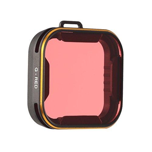 Mengonee Wasserdichtes optisches Glas-Rot-Objektiv-Filter für Gopro 5 Diving Adventures Alurahmen