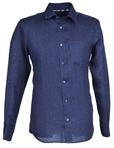 chemise-en-lin-aquascutum-ashby-pour-homme-en-bleu-marine