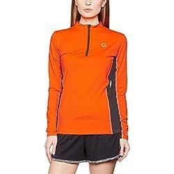 Gregster Camiseta Deportiva de Manga Larga para Mujer - Top Funcional con Cuello Alto - Perfecto para Correr, Yoga, Senderismo