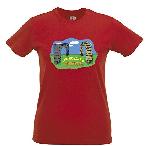 Mantenere i tuoi amici vicino ma tenete gli Enemieys Closer T-Shirt Da Donna Red