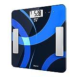 Digitale Personenwaage Körperfettwaage TaoTronics Gewichtswaage Körperwaage mit App-Anbindung zum Messen von Gewicht, BMI, Fett, Wasser, Muskeln, Knochenmasse, BMR & AMR