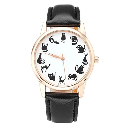 jsdde-fun-animal-series-twelve-cute-cats-scale-rose-golden-case-pu-leather-strap-womens-girls-quartz