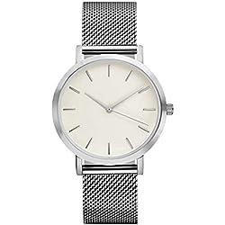 Watches Ularma Fashion Women Crystal Stainless Steel Analog Quartz Wrist Watch Bracelet Silver