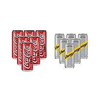 Coca-Cola Zero Soft Drink, Cans - 6 X 330 ml With Soda Free - 6 X 250 ml
