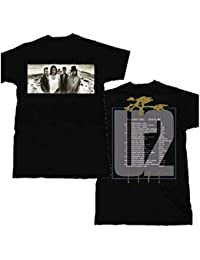 U2 Joshua Tree 1987 Album Inspired European Tour Double Print T-Shirt