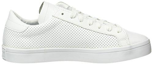 adidas Court Vantage, Baskets Basses Homme, 42 EU Blanc (Ftwr White/Ftwr White/Core Black)