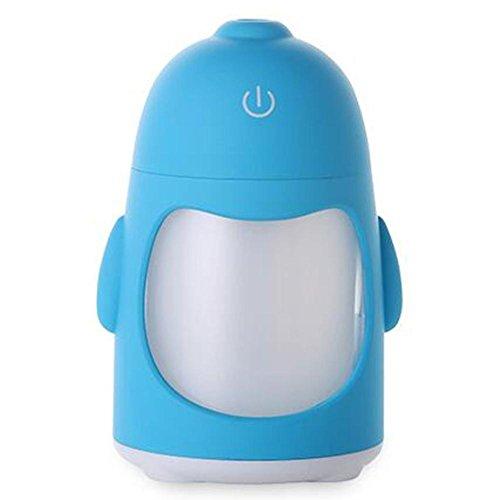 7 Farbwechsel LED Pinguin Kreative Kaltnebel Diffusor Luftbefeuchter,USB Spray Luftbefeuchter Ultraschall, Büro Yoga Spa Schlafzimmer Reise und Auto , C