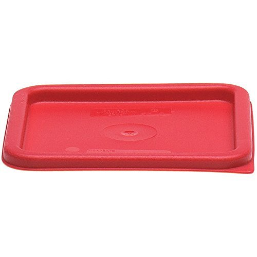 Cambro Medium Polyethylene Square Lids, fits 6 and 8 qt. containers, Pack of 6 by Cambro