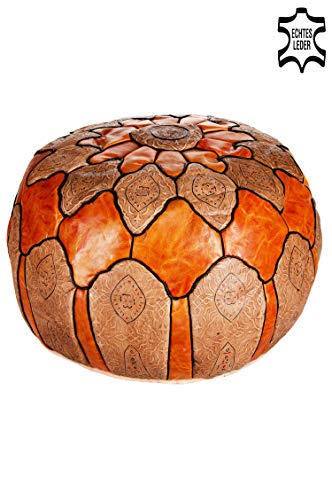 Marrakech Accessoires–Pouf redonda de piel Diámetro 60cm redo