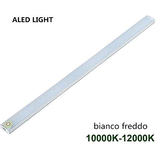 ALED LIGHT® USB LED Light Touch Interruttore Luminosità Regolabile per l'armadio da Cucina Stair. (1 (Nursery Bagno)