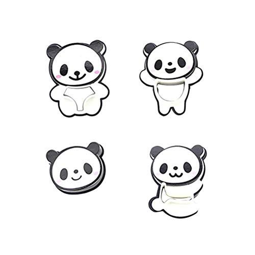 BESTONZON Ausstechformen Kunststoff Panda Bär Form Keksausstecher für Backen Kuchen Dekoration 4 Stück