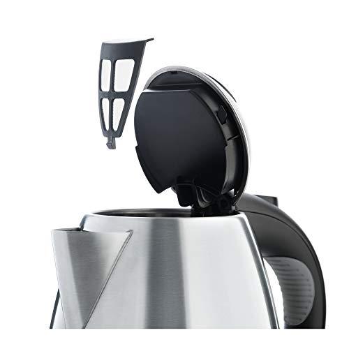 WMF STELIO Wasserkocher, 1,7 l, 2400 W, Wasserstandsanzeige beleuchtet, Kalk Wasserfilter, cromargan matt/silber - 5