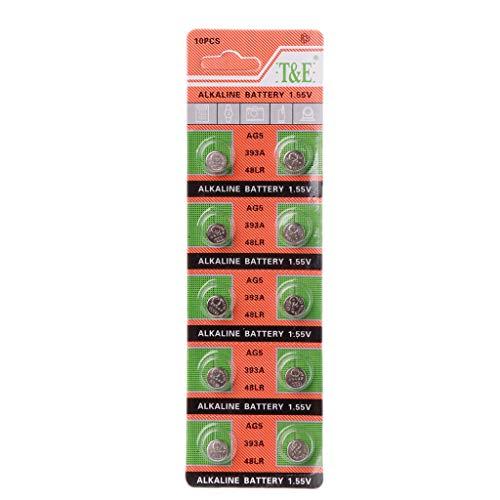 Weishazi Alkaline-Batterie Knopfzelle AG5 LR754 393 SR754 193 546 RW28 48 Hörgerätebatterien