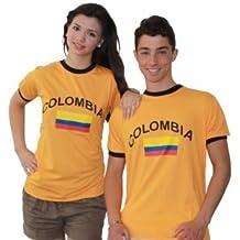 Brubaker - Camiseta (manga corta), diseño de Colombia naranja naranja Talla:large