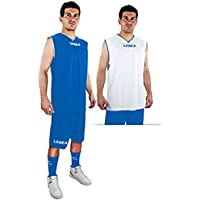 Legea Kit Basket las vegas Herren Bekleidung trikot Double Face short Weiss-Hell Blau