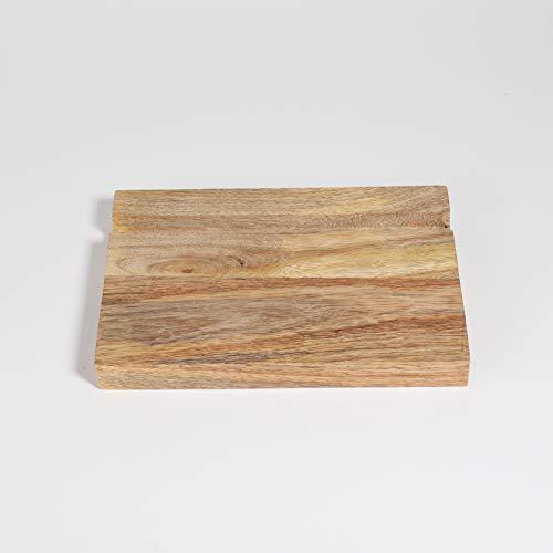Rustikaler Holz-Tablet-Ständer, mobiler Ständer, kompatibel für iPad, Smartphone, Holz-Tablet-Halterung, mobiler Ständer, Tablet-Ständer und Halterungen, für Büro, Handarbeit, 19,7 x 14 x 1,5 cm -