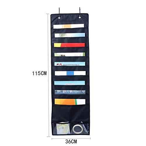 Gudelaa Oxford Tuch Datei hängen Tasche Tür Lagerung und Finishing Staubbeutel Büro Ordner Aufbewahrungstasche schwarz (Tasche-datei-ordner)