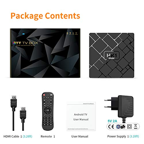 Offerta! Bqeel TV Box Android 8.1 HK1 MAX / CPU RK3328 Quad-Core 64bit / 4G DDR3+64G EMMC / Dual WIFI 2.4/5G + 100M LAN, android box tv Bluetooth 4.0/USB 3.0/AV/Dolby/3D 4K Smart TV Box - 7