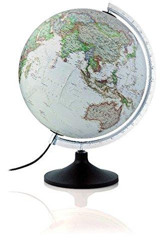 National Geographic Carbon Executive: Leuchtglobus, polit. Antikdesign-Kartografie, modernes Kunststoffgestell, 30 cm Durchm. (Alter Globus)