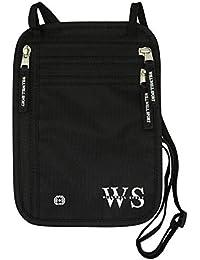 Bolsa de cuello cuello cartera bolsa y Porta pasaporte de viaje y para documentos de viaje y RFID bloqueo y resistente al agua - viaje bolsa de seguridad ocultas - proteger su valiosa ocultar