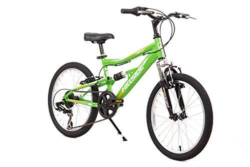 Kinderfahrrad 20 Zoll Hillside Hero in grün Mountainbike Fahrrad MTB 7 Gang Shimano Schaltung Federung vorn & hinten