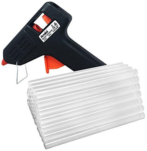 Amdai 20W Electric Glue Gun Hot Melt with Trigger PLUS 60 Glue Sticks for Hobby, Craft, Mini, Metal, Wood, Glass, Card, Fabric, Plastic, Ceramics