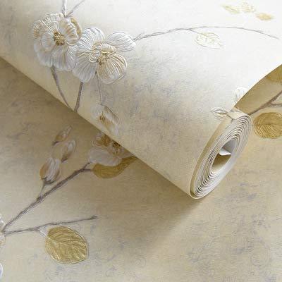 Kirsch-marmor (Tapete Dekorwandfolie hinterlässt keine Spuren Oberflächen pflegeleicht hellgelb 53x1000cm)