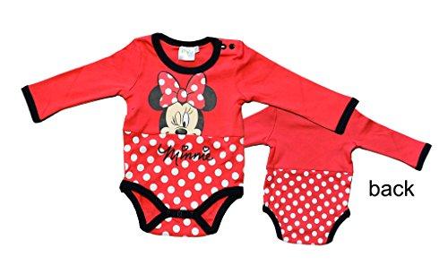 Disney minnie 2123 body, rosso rouge, 0-3 (taglia produttore: 3 mesi) bimba