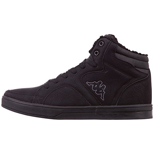 Kappa Herren Nanook Hohe Sneaker, Schwarz (Black/Grey 1116), 46 EU